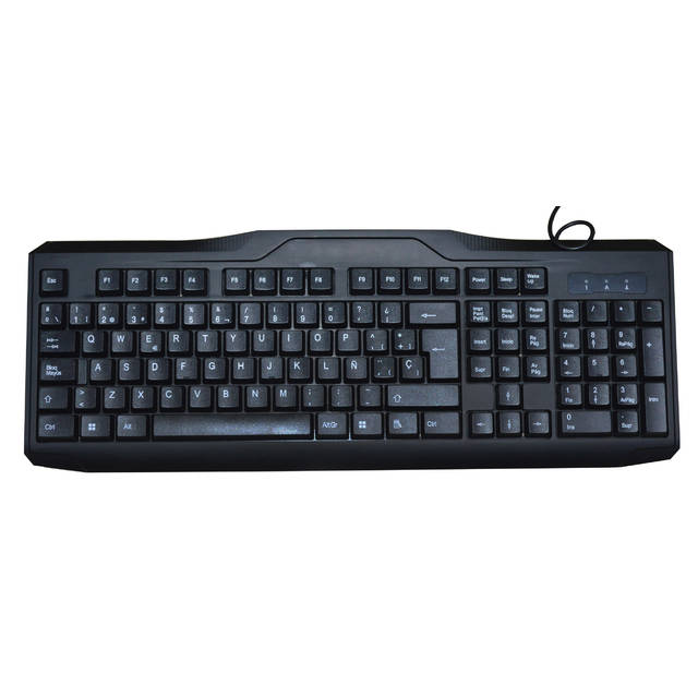 iMicro KB-US9851S USB Wired 108-Key Spanish Keyboard (Black)