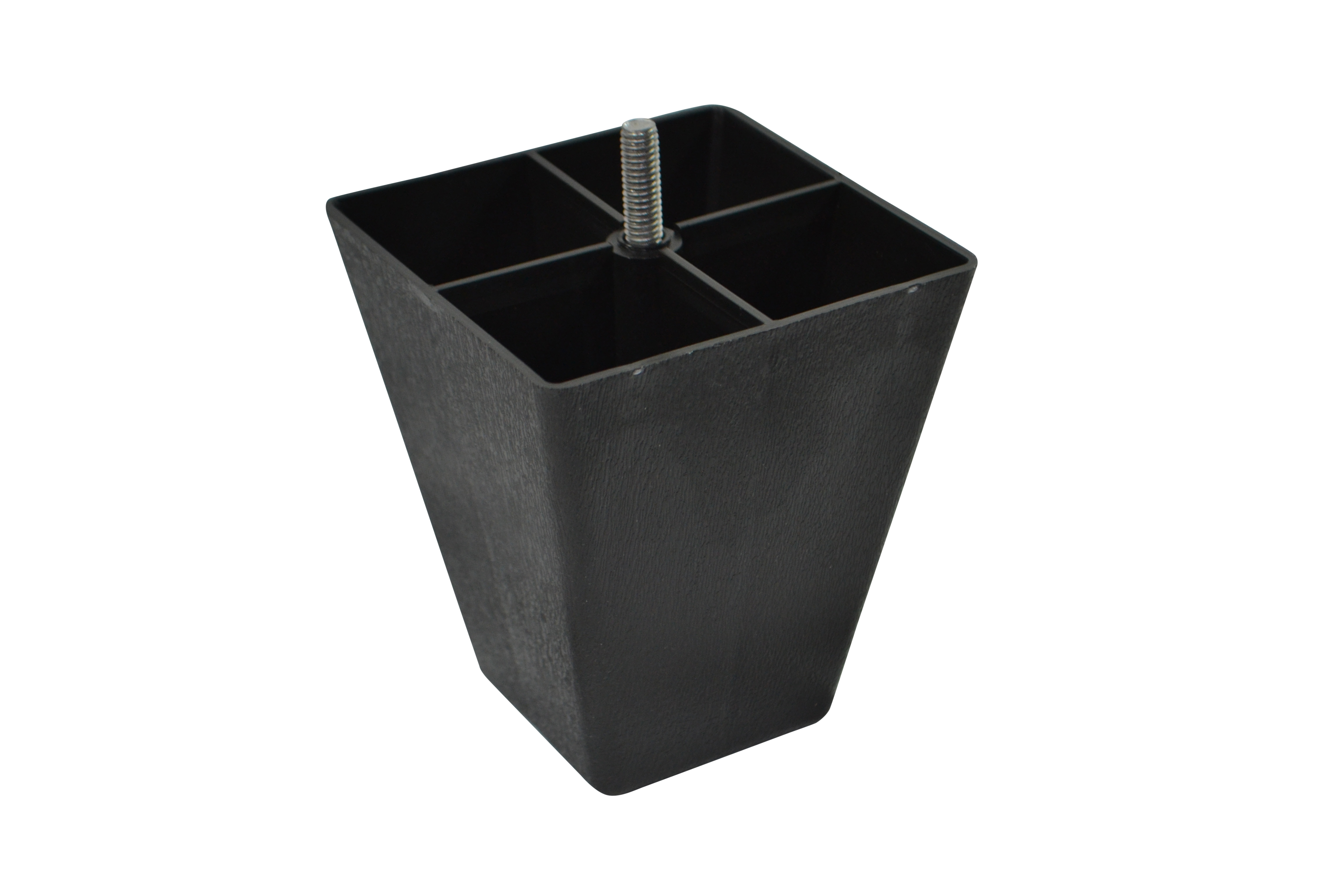 Black Plastic Pyramid Style 4.5 Inch Leg For Sofas And Recliners