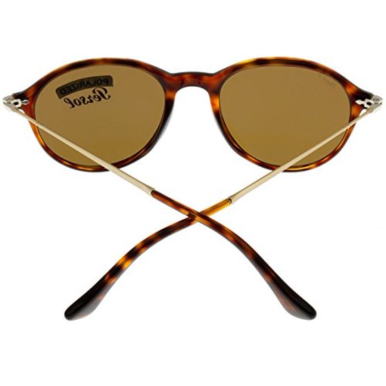 6132fce223 Persol - Persol Sunglasses Unisex Oval Brown Polarized PO3125S 24 57 Size   Lens  Bridge  Temple  49 19 140 44.3 - Walmart.com
