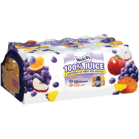 Welch's 100% Juice, Variety Pack, 10 Fl Oz, 24 Count
