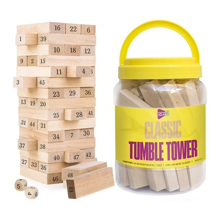Jenga Wooden Blocks Classic Tumble Tower Generic Family Drinking