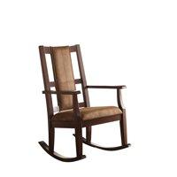 ACME Butsea Rocking Chair, Brown Fabric & Espresso-Color:Brown Fabric & Espresso,Quantity:1,Style:Traditional