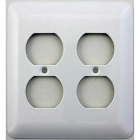mulberry princess style white two gang duplex outlet switch