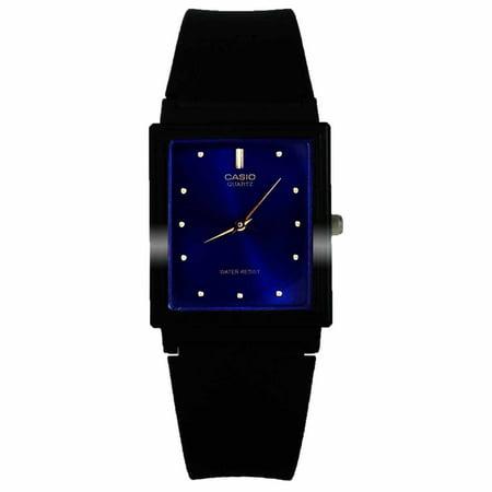 MQ38-2A Men's Rectangular Resin Band Casual Blue Dial Analog Watch (Rectangular Watches)