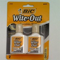 Bic Wite-Out Quick Dry Correction Fluid - 2 pack - Buff Color