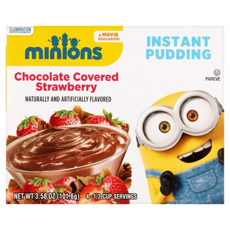 Minions Chocolate Covered Strawberry Instant Pudding  3 58 Oz