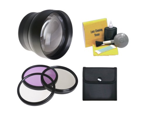 3 Piece Lens Filter Kit Nwv Direct Microfiber Cleaning Cloth. Canon EOS 20D High Grade Multi-Coated Made by Optics Multi-Threaded 58mm