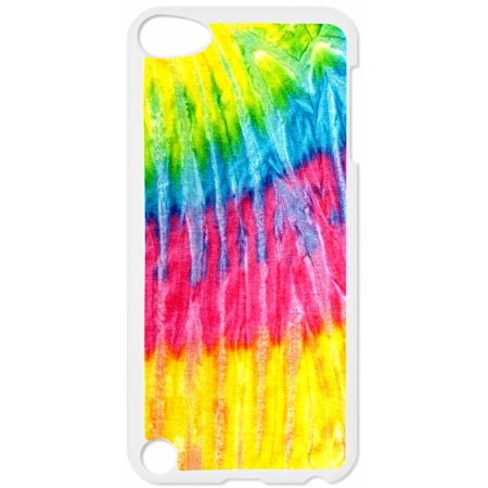 Tie Dye Stripe Hard White Plastic Case Compatible with the Apple iPod Touch 4th Generation - iTouch 4 - Compatible Dye