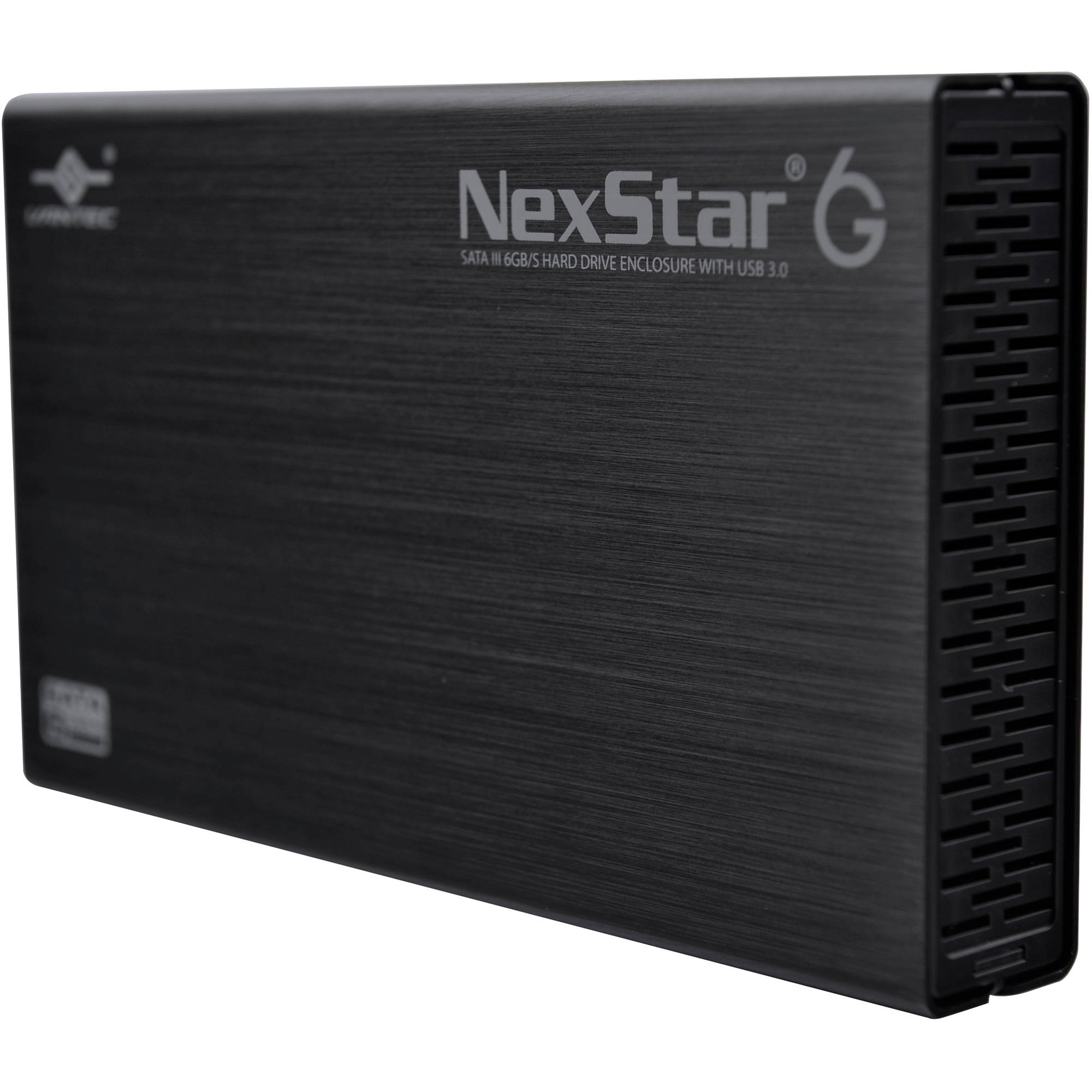 "Vantec NST-366S3-BK 3.5"" SATA 6Gbps to USB 3.0 HDD Enclosure, Black"
