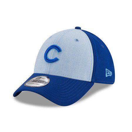 Chicago Cubs New Era 2018 Father s Day 39THIRTY Flex Hat - Light Blue 7b6a84b5a2c