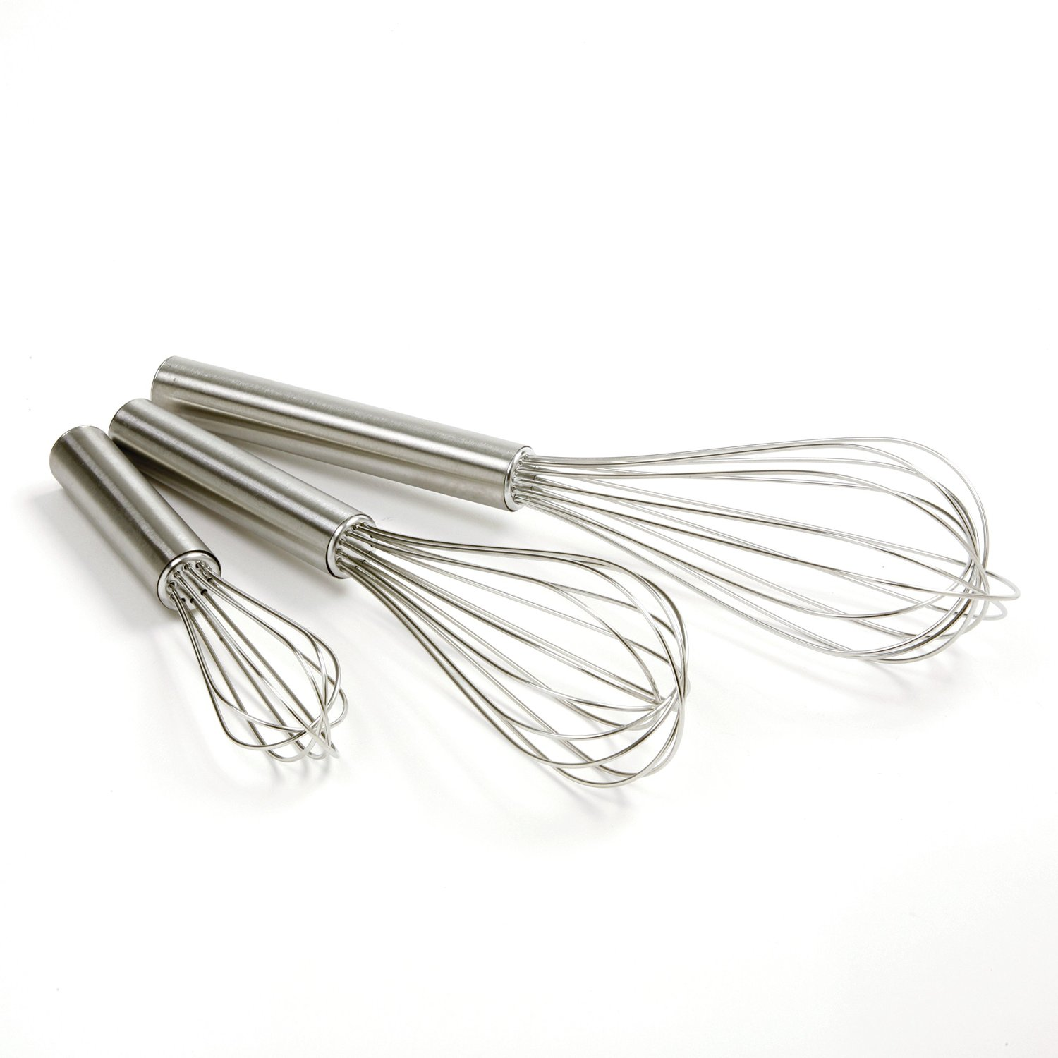 3Pcs Steel Beat Mix Wire Whisk 8//10//12Inch set for Manual Home Cakes Baking