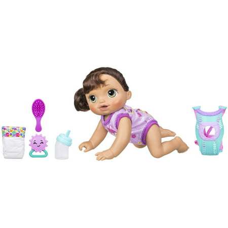 Baby Alive Baby Go Bye Bye: Brunette Hair Doll, Ages 3 and (Best Place To Sell Barbie Dolls)