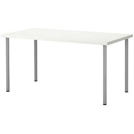 Ikea Linnmon Desk With Adils Legs For Multi Purpose 47 1 4 X23 5 8  White Desk Silver Legs 183838 11820 124
