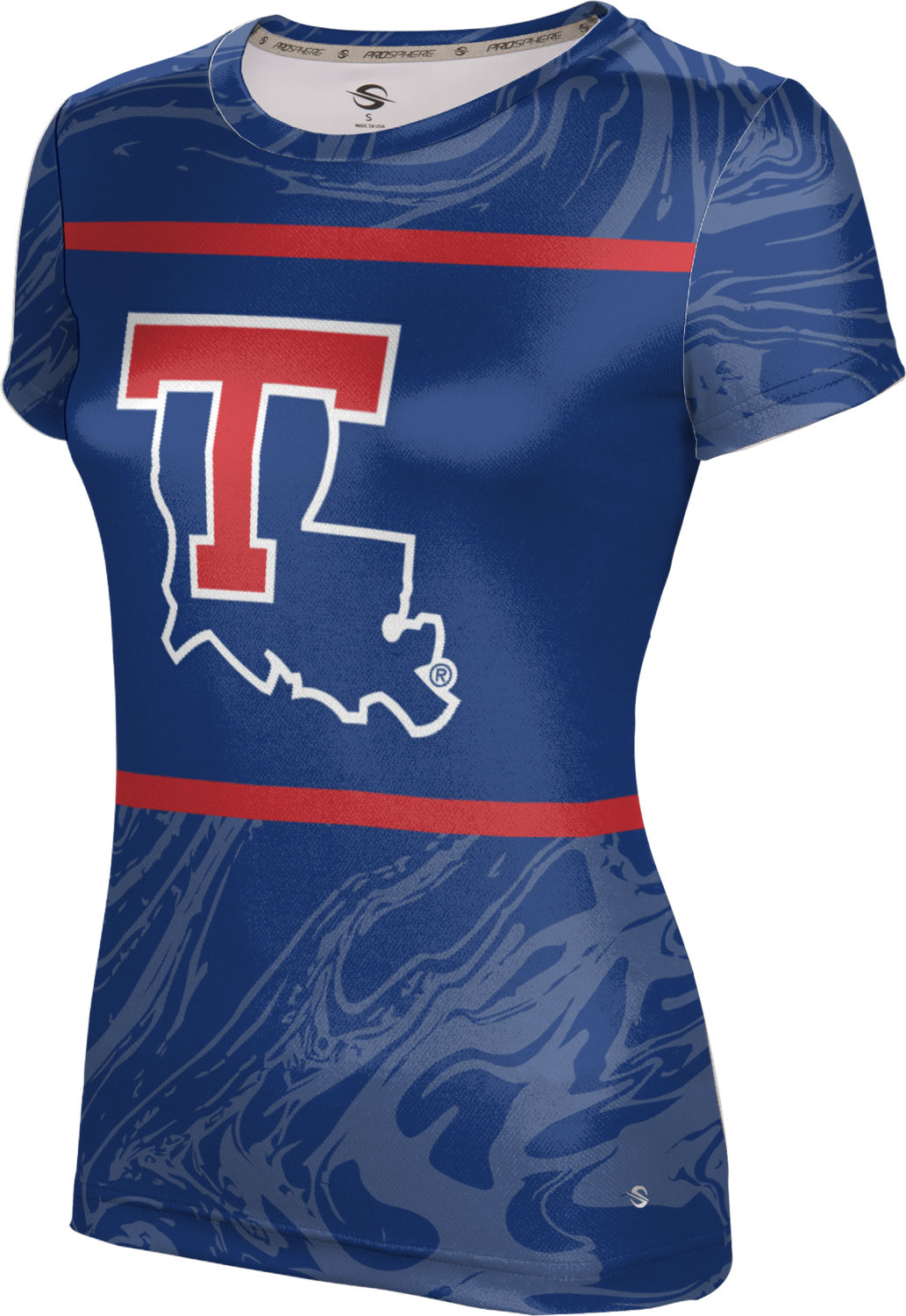 ProSphere Girls' Louisiana Tech University Ripple Tech Tee
