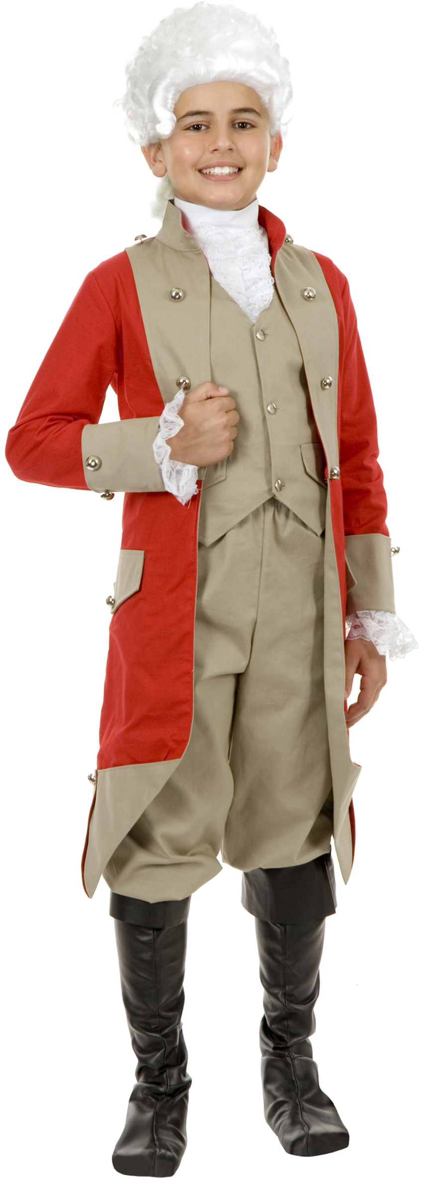 Child Boys British Red Coat Military Jacket Costume Accessory by Charades Costumes
