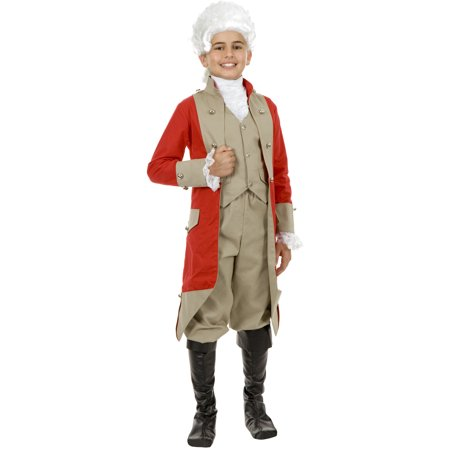 Child Boys British Red Coat Military Jacket Costume Accessory - Boys Military