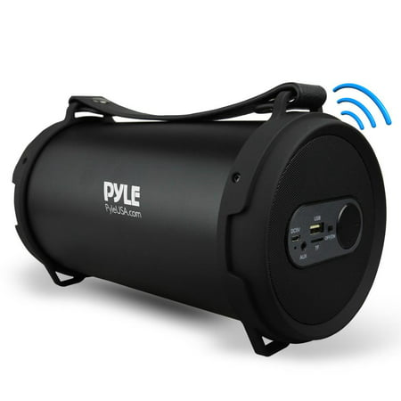 Pyle PBMSPG7 - Portable Bluetooth Wireless BoomBox Stereo System, Built-in Rechargeable Battery, MP3/USB/Micro SD/FM