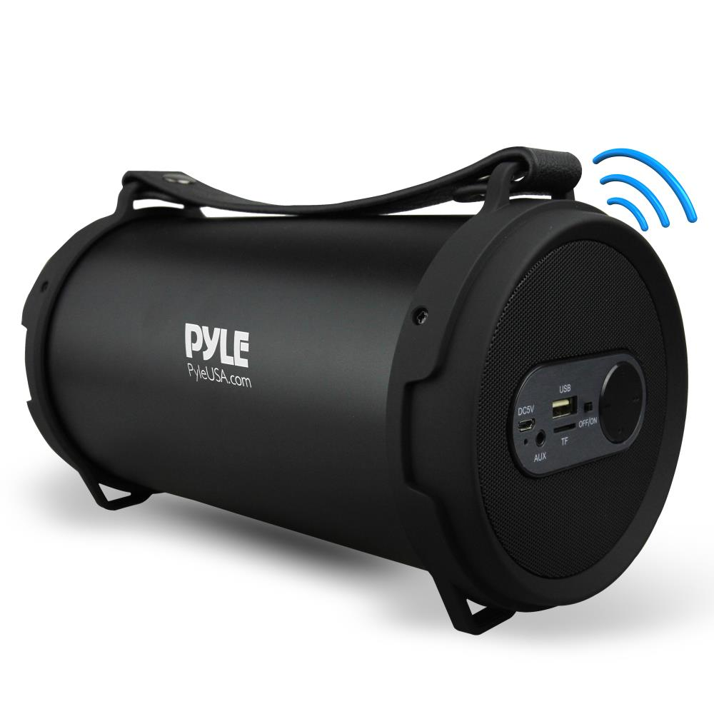 Pyle PBMSPG7 - Portable Bluetooth Wireless BoomBox Stereo System, Built-in Rechargeable Battery, MP3/USB/Micro SD/FM Radio