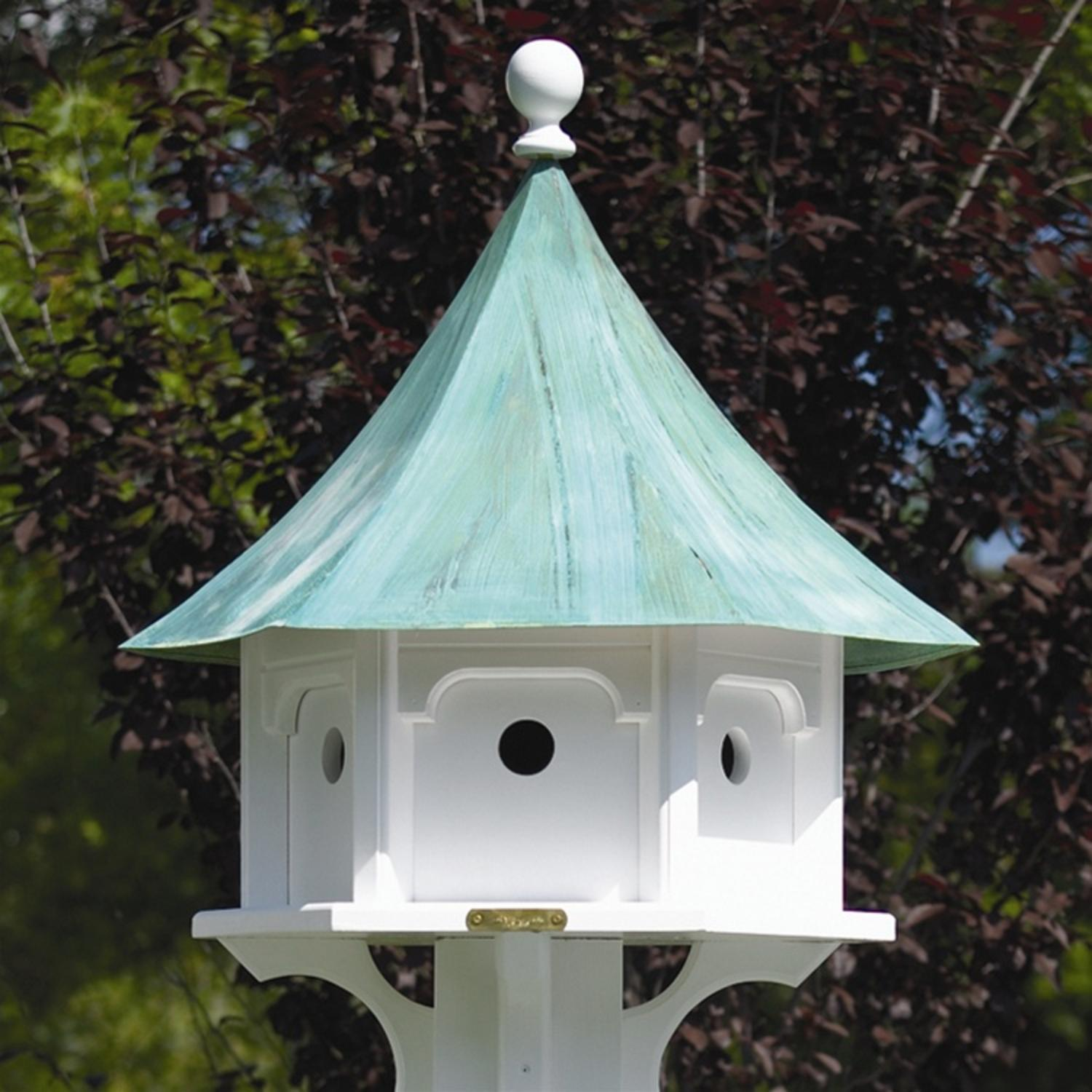 "25"" Outdoor Enchanted Blue Verde Carousel Garden Birdhouse by Bird Houses"
