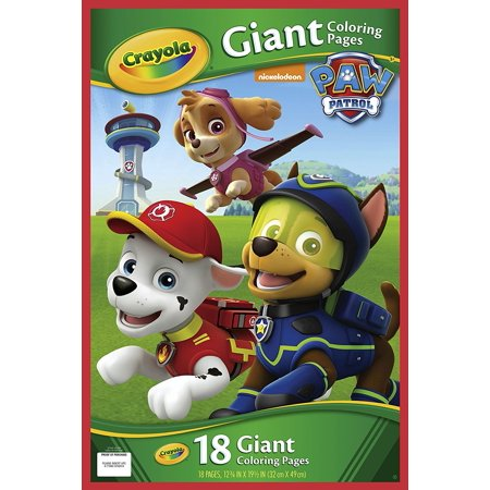 Crayola Paw Patrol Giant Coloring Pages, 18 Giant Coloring Pages