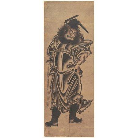 Public Domain Images MET56722 Shoki The Demon Queller Poster Print by Okumura Masanobu, Japanese 1686 1764, 18 x 24 - image 1 of 1