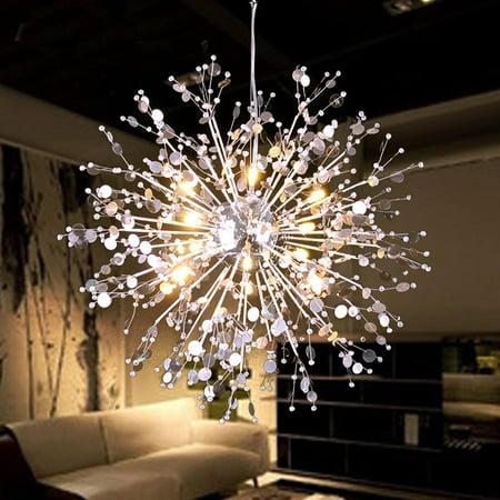 Led Light Iron Crystal Pendant Lighting