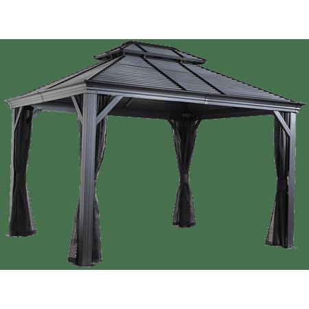 Mykonos II Double Roof Gazebo 10 x 14 ft