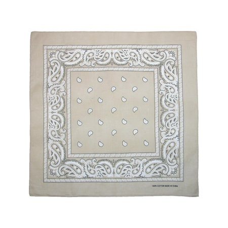 Cotton Paisley All-Purpose Bandana](White Bandanas)