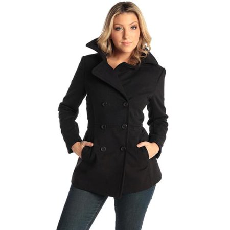 Alpine Swiss Emma Womens Peacoat Double Breasted Overcoat 3/4 ...