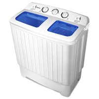 Costway 17.6lb Portable Mini Compact Twin Tub  Washing Machine Washer Spin Dryer