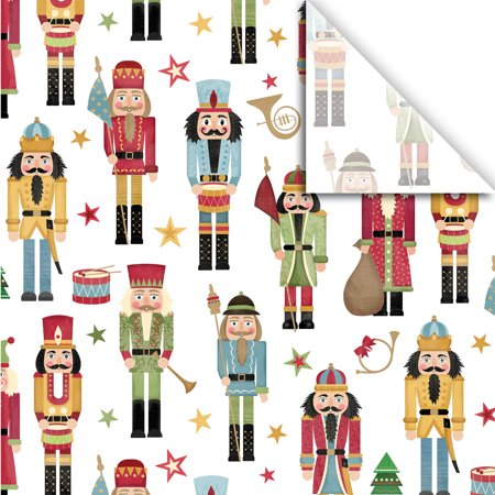 "Jillson & Roberts Printed Gift Tissue 20"" x 30"", Traditional Nutcracker (240 Sheets)"
