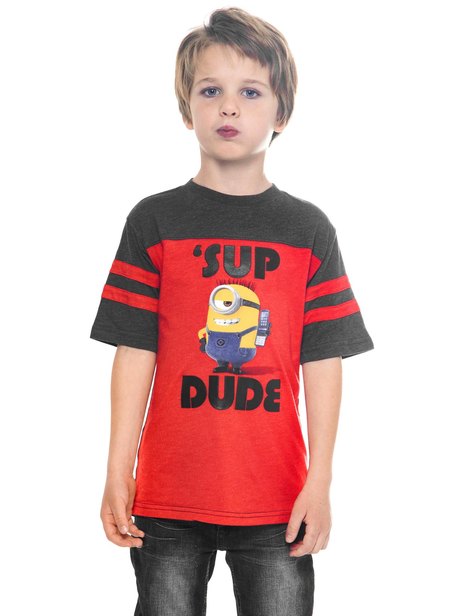 Minions Despicable Me Boys T-Shirt Sup Dude