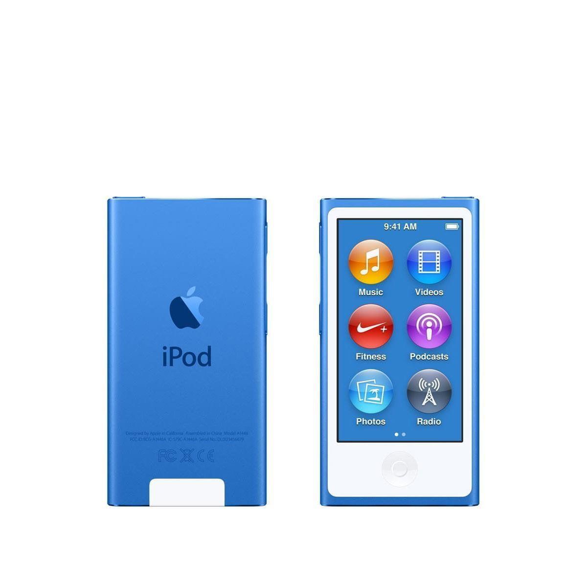 Apple iPod Nano 7th Generation 16GB Blue, (Latest Model)New in Plain White Box MKN02LL/A