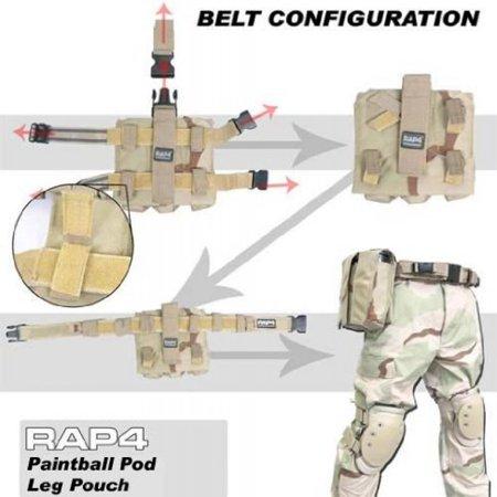 Paintball Pod Leg Pouch 2x (Woodland) - paintball pod