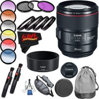 Canon EF 85mm f/1.4L IS USM Lens International Version (No Warranty) Professional Accessory Combo