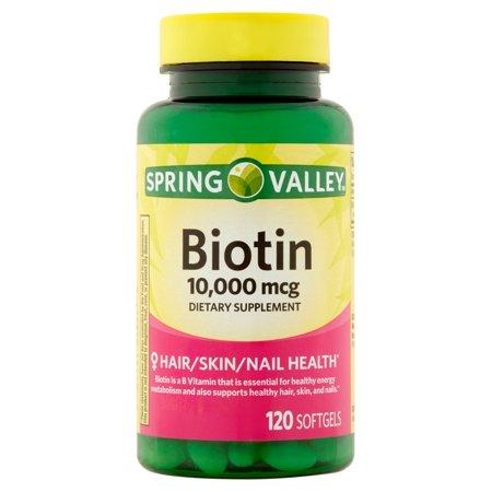 Spring Valley Biotin Dietary Supplement Softgels 10 000