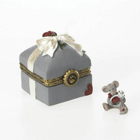 Resin Mr. McBearsley's Ring Box, Boyds Mcnibble Treasure Box By