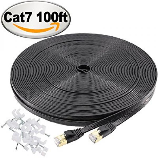 Extra LONG 100ft Ethernet Cable Cat-7 Internet Cable 【Ultra Speed】Network Cable