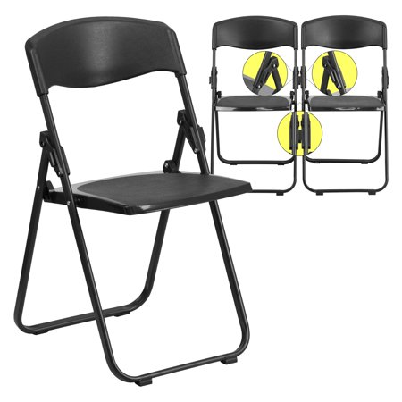 Flash Furniture HERCULES Series 880 lb. Capacity Heavy Duty Plastic Folding Chair with Built-in Ganging Brackets, Multiple Colors