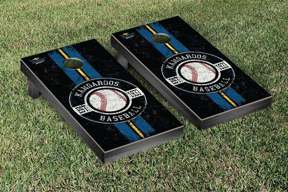 University of Missouri Kansas City UMKC Kangaroos Regulation Cornhole Game Set Baseball Vintage Version by Victory Tailgate