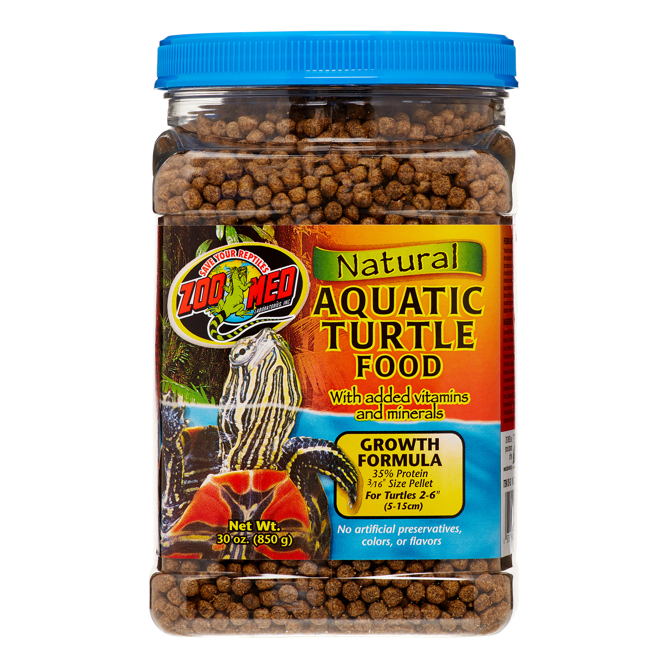 Zoo Med Natural Growth Formula Aquatic Turtle Food, 30 Oz