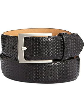 Tasso Elba Men/'s Feather-Edge Leather Dress Belt Sz 32,34,40 $65