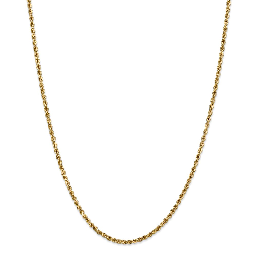 Leslies 14K 2.5mm Solid Rope Chain