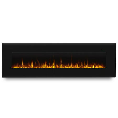 Corretto 72 Inch Electric Wall Hung Fireplace