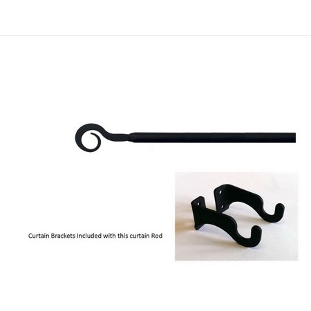 Village Wrought Iron CUR-108-35-S Curl Curtain Rod - Small ()