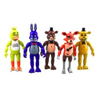 Zoiuytrg 5pcs/Set Five Nights at Freddys Action Figures Toys Collection Kids Xmas Gift