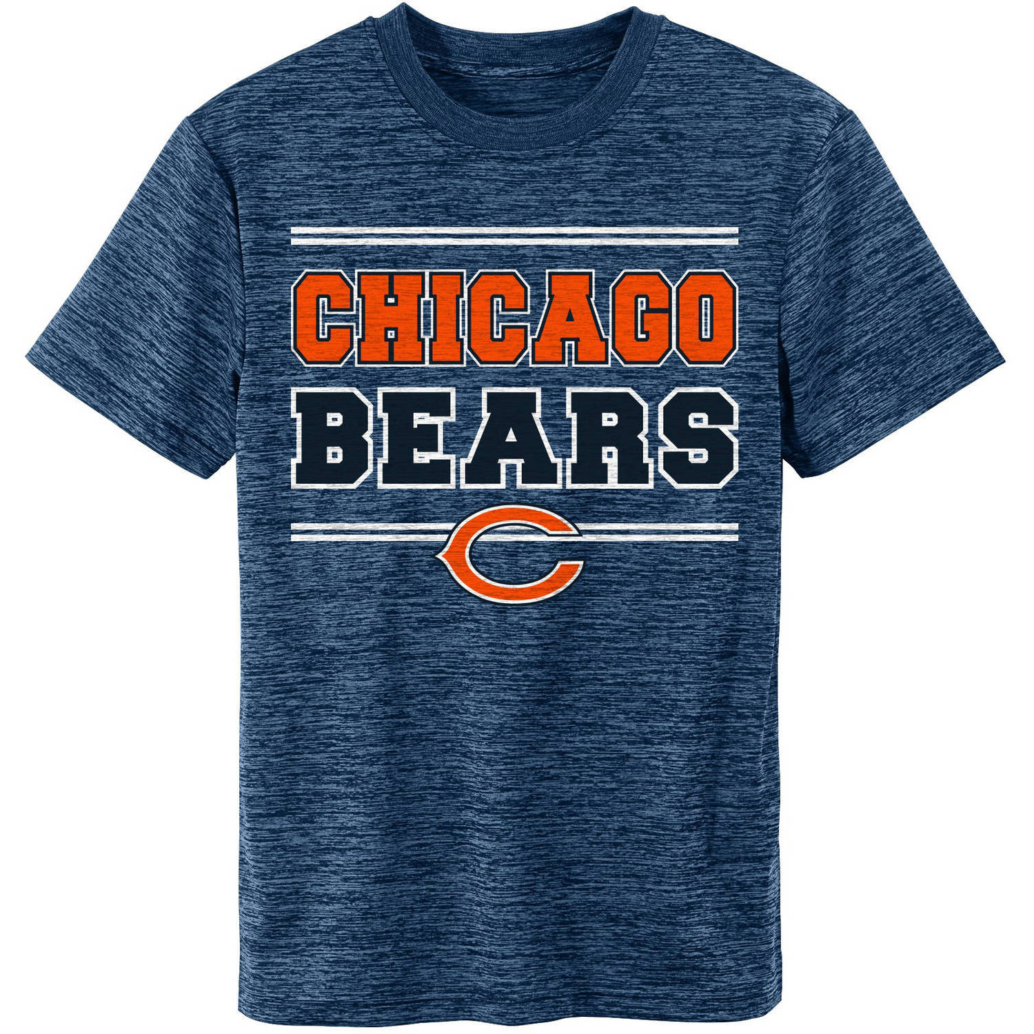 NFL Chicago Bears Youth Short Sleeve Space Dye Tee