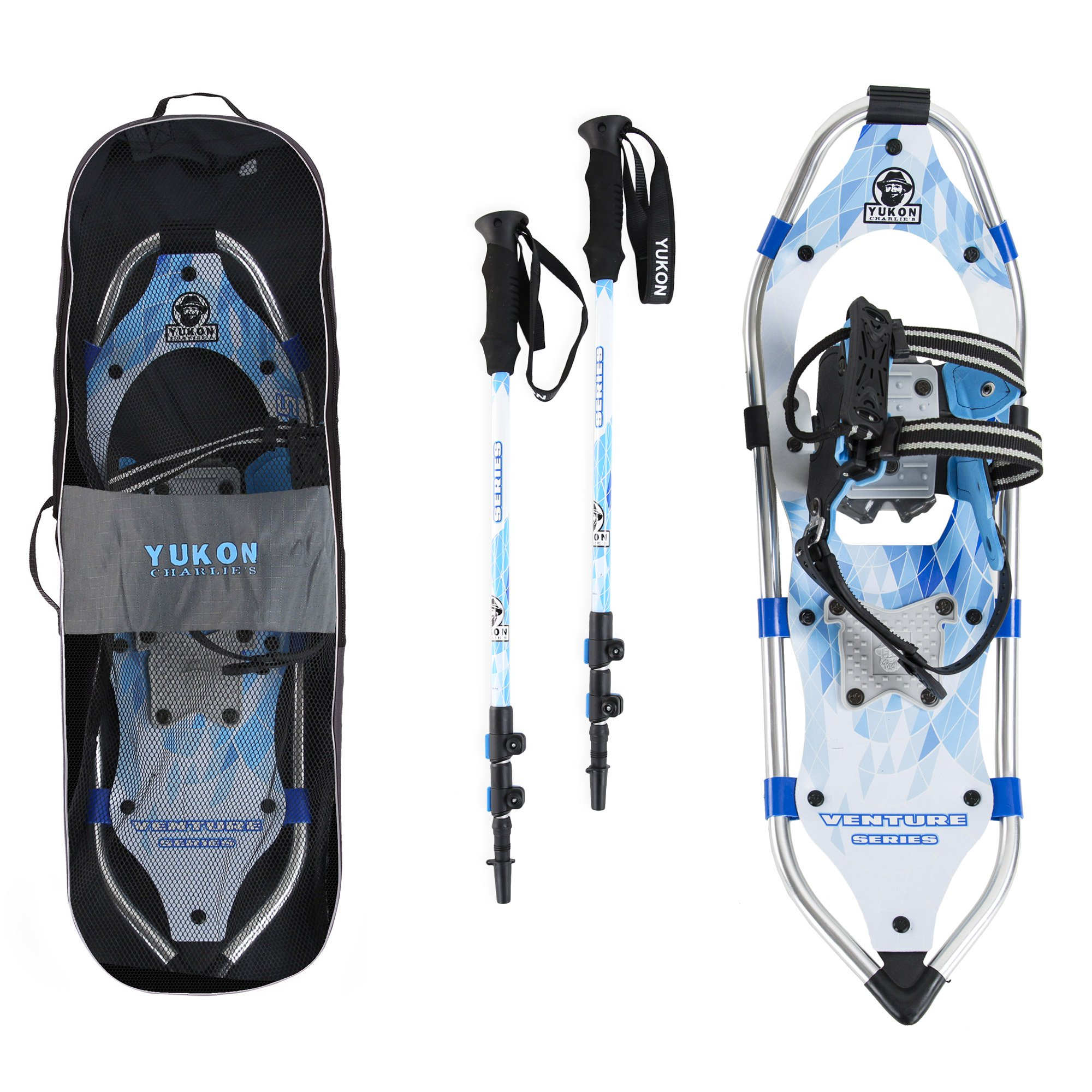Yukon Charlie's Advanced 8 x 21 Inch Women's Snowshoe Kit with Poles and Bag by Kwik Tek