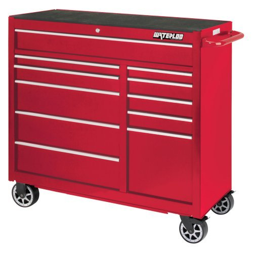 Waterloo Professional 41 in. Red 11 Drawer Cabinet