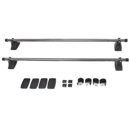 Best Choice Products 48in Adjustable Crossbar Car Top Roof Cargo Luggage Rack - Gray/Black